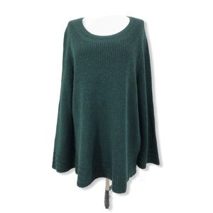 Style & Co. NWT 1X Chunky Cable Knit Sweater Green